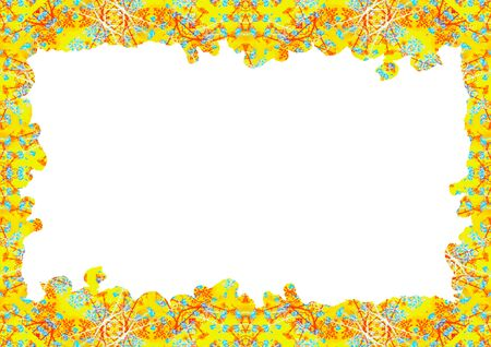 White frame background with decorated design borders. Stok Fotoğraf