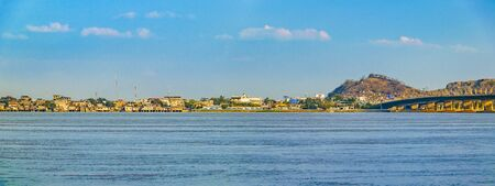 Panoramic view of daule city and babahoyo river at guayas district, ecuador Stock Photo