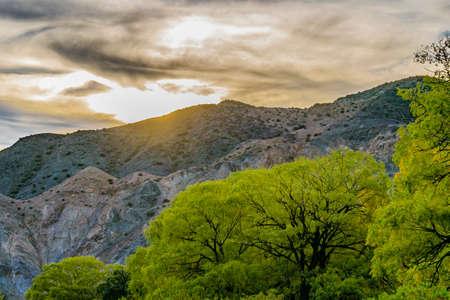 Andes mountains landscape scene at el leoncito national park, calingasta district, san juan province, argentina