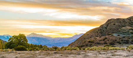 Empty landscape scene at el leoncito national park, calingasta district, san juan province, argentina