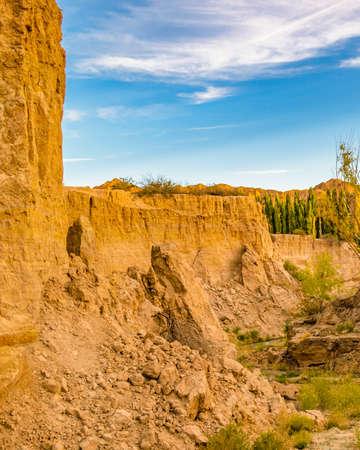 Small cascade at el leoncito national park, calingasta district, san juan province, argentina
