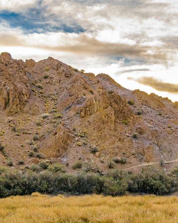 Empty landscape scene at el leoncito national park, calingasta district, san juan province, argentina Foto de archivo
