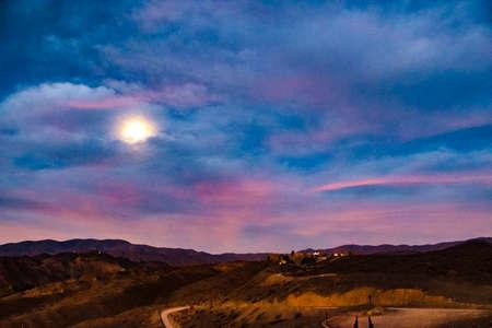 Andes mountains landscape scene at el leoncito national park, calingasta district, san juan province, argentina Foto de archivo