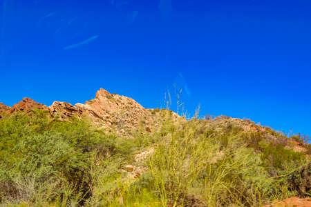 Arid rocky landscape mountains scene at san juan province, argentina