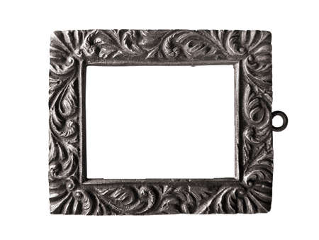 White frame background with decorated design borders. 免版税图像