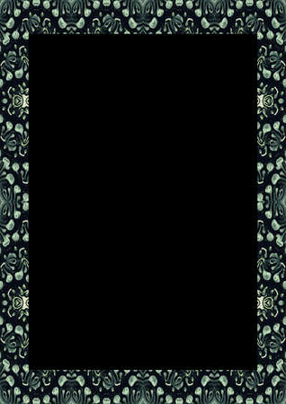 White frame background with decorated design borders. 版權商用圖片