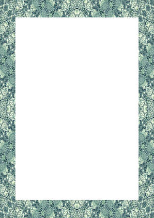 White frame background with decorated design borders. Фото со стока