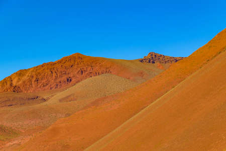 Beautiful puna andean landscape at brava lagoon reserve, la rioja province, argentina