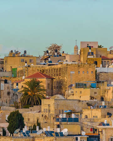 Aerial view of old jersualem city, israel