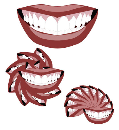 Smile variations Vector
