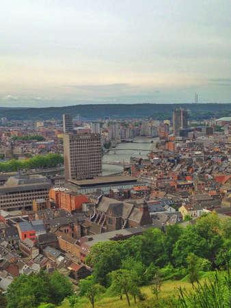 liege: Cityscape of Liege Belgium