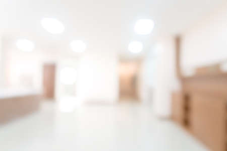 Abstract blurred hospital and clinic interior for background