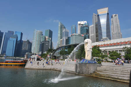 singapore Golden Bay merlion Editorial