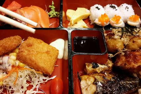 bento box: Bento box Japanese food in restaurant