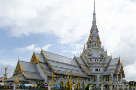 thaiart: Wat Sothonwararam the temple in thailand is beautiful Stock Photo
