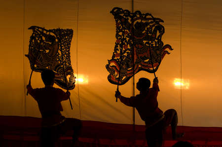 grand shadow play thai show Nang Yai photo