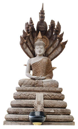 thaiart: image of buddha on the naga