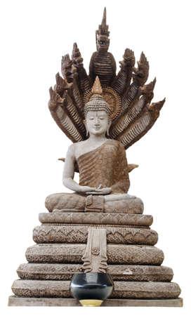 image of buddha on the naga photo