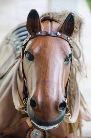 old wood horse retro toy photo
