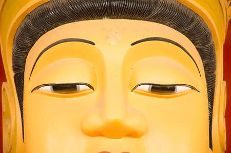 bodhisattva face close up eye photo