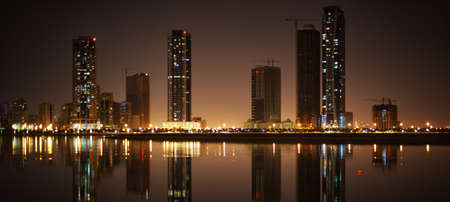 Khalid lagoon  Cityscape of Sharjah, United Arab Emirates  photo