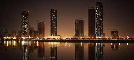 sharjah: Khalid lagoon  Cityscape of Sharjah, United Arab Emirates