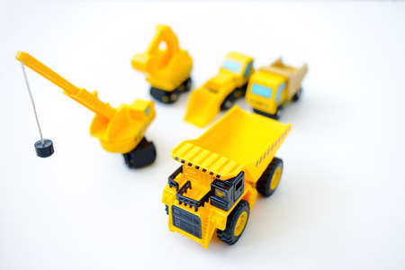 Construction machines, yellow toys Reklamní fotografie