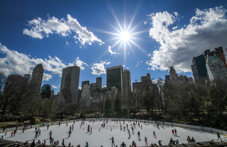 Wollman Ice Rink, Central Park, Manhattan, New York, USA