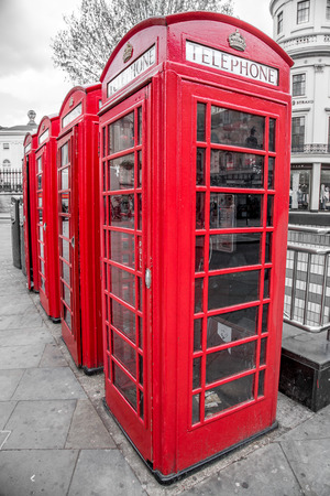 Red Telephone Boxes, Westminster, London, England photo