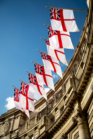 pall: Royal Ensign Flags, Admiralty Arch, Westminster, London, England