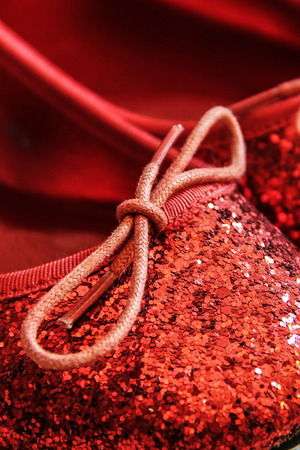 sequined: Red Sparkly Shiny Sequin Shoes