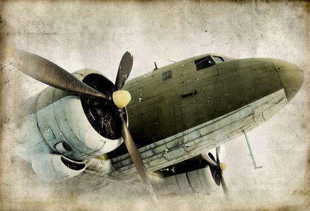 Retro propeller airplain Archivio Fotografico