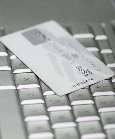 Credit card on a keyboard photo