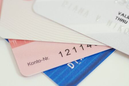 Credit card-financial background Stock Photo - 5205125