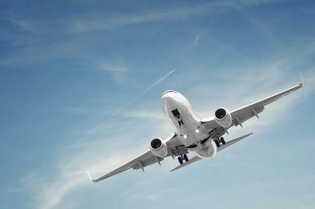 boeing: sbarco dei passeggeri aerei Archivio Fotografico