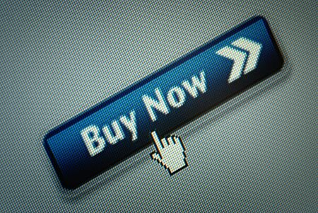 curseur souris: Close-up d'une interface pour ordinateur bouton Achat imm�diat et un curseur de la souris