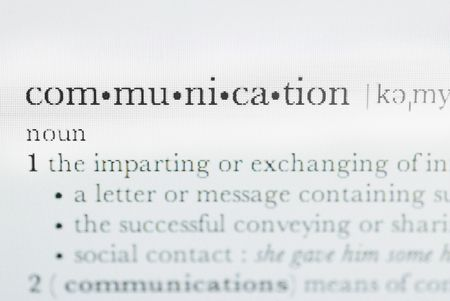 definition of the word communication from a dictionary Stock Photo - 5287269