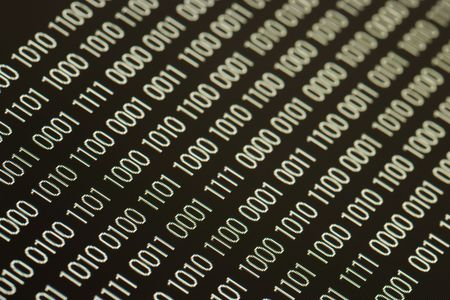 close up of binary code on a black background Stock Photo - 5344624