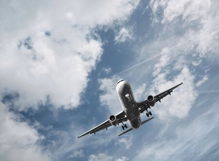 passenger airplane taking off  Archivio Fotografico