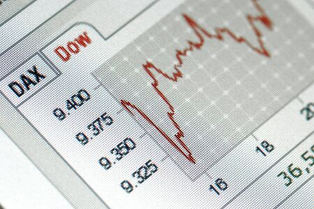 close up of a positive financial stock exchange chart Stock Photo - 6114505