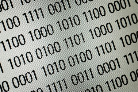 close up of binary code over white background Stock Photo - 6114508