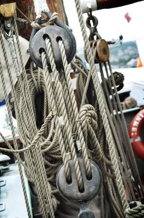 ketch: Close up of Sail Ships Rigging