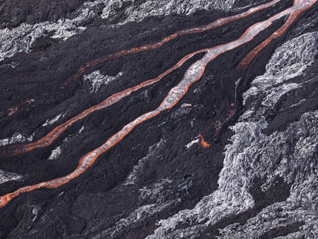Lava flow at Hawaii Volcano National Park Archivio Fotografico