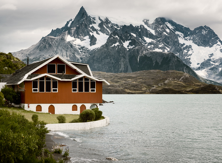 torres del paine: Lake Pehoe, Torres Del Paine National Park, Patagonia, Chile