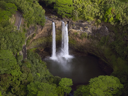 waterfalls: Green Getaway Exotic Paradise, Kauai, Hawaii