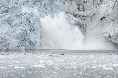calving: Margerie Glacier Calving, Glacier Bay National Park, Alaska