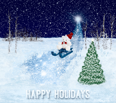 happy holidays: Happy Holidays greeting card. Christmas background.