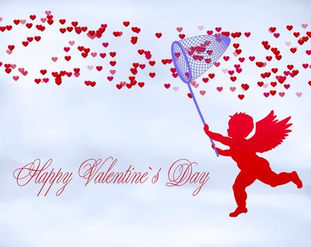 valentine's day background: Romantic illustration Valentines Day Background.