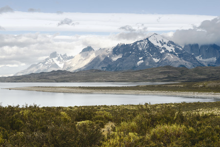 torres del paine: National Park Torres Del Paine, Chilean Patagonia Stock Photo
