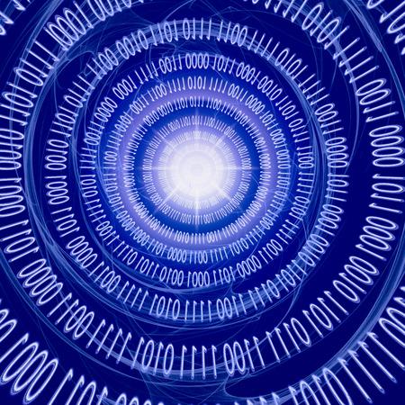 spacetime: Gravitational Waves in Spacetime. Quantum mechanics meets general relativity. Stock Photo